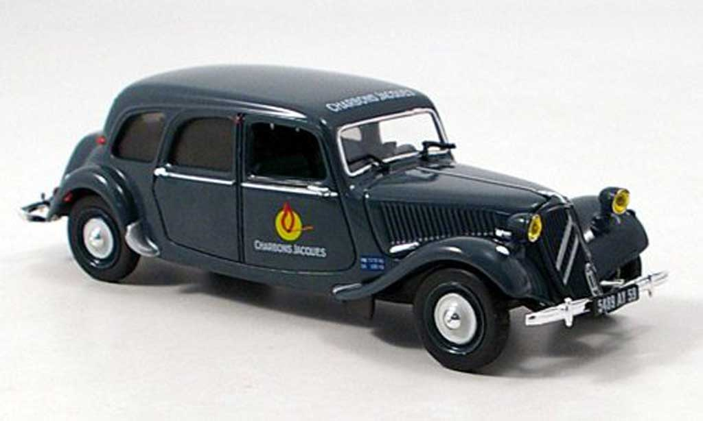 Citroen Traction 11 1/43 Norev Commerciale Charbon Jacques miniature
