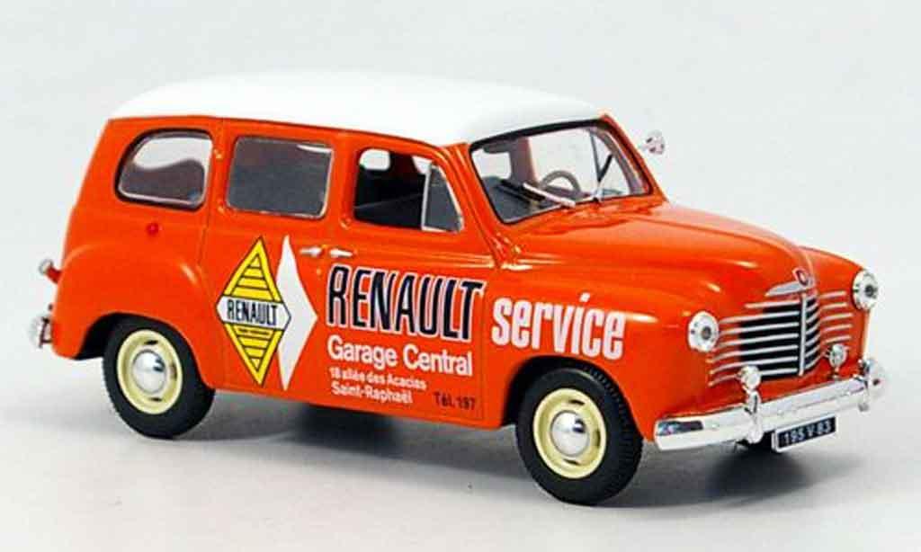 Renault Colorale 1/43 Norev service orange blanche miniature