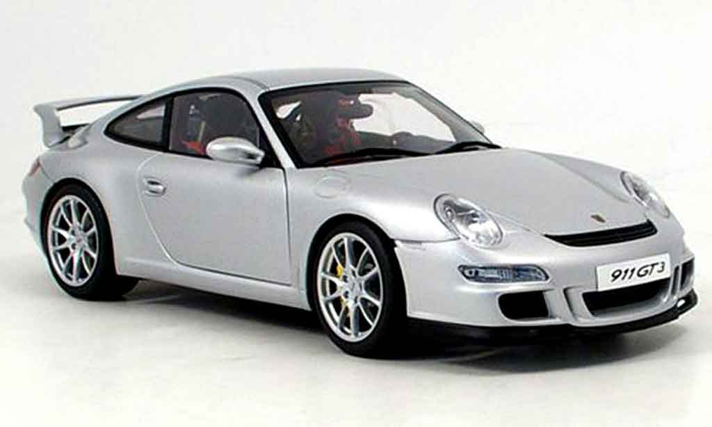 porsche 997 gt3 miniature grise autoart 1 18 voiture. Black Bedroom Furniture Sets. Home Design Ideas