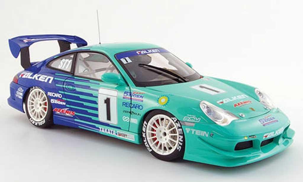 Porsche 996 GT3 Cup 1/18 Autoart no.1 falken super taikyu 2005 miniature