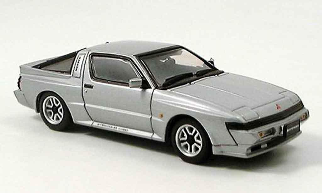 Mitsubishi Starion 1/43 Aoshima GSR VR grise metallisee 1988 miniature