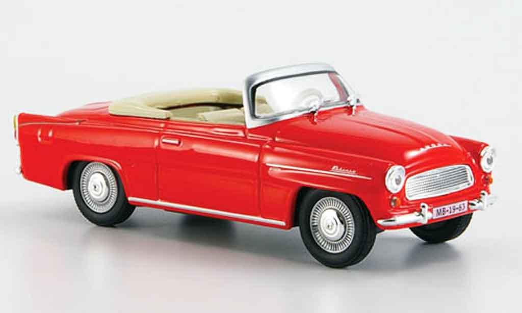 Skoda Felicia 1/43 Abrex roadster rouge miniature