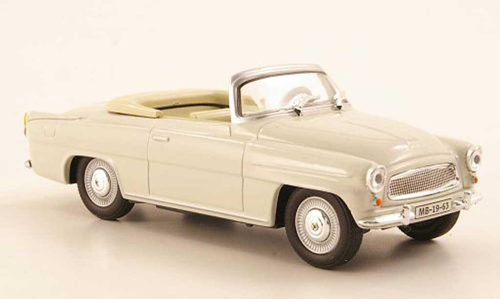 Skoda Felicia 1/43 Abrex Roadster grise miniature