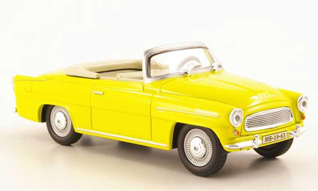 Skoda Felicia 1/43 Abrex Roadster jaune miniature