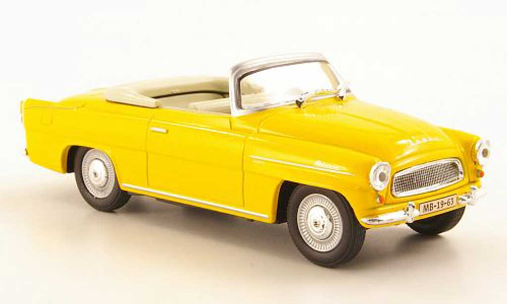 Skoda Felicia 1/43 Abrex Roadster orange-jaune miniature