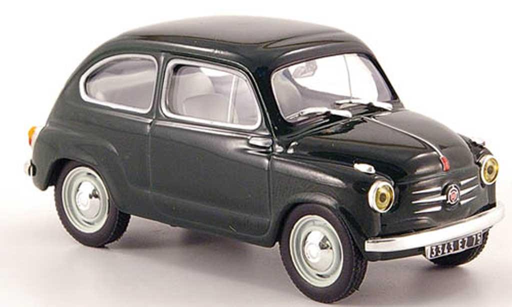 Fiat 600 grun 1957 Hachette. Fiat 600 grun 1957 modellauto 1/43