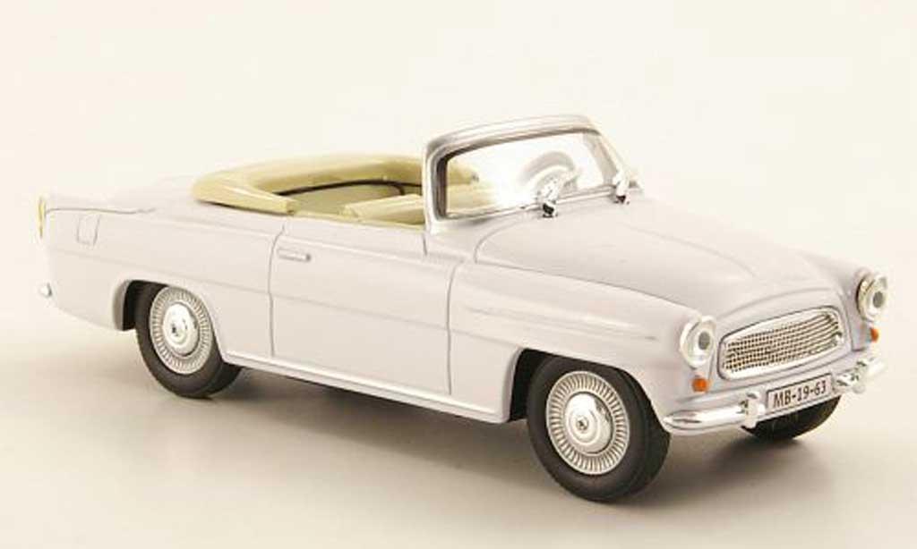 Skoda Felicia 1/43 Abrex Roadster blanche miniature
