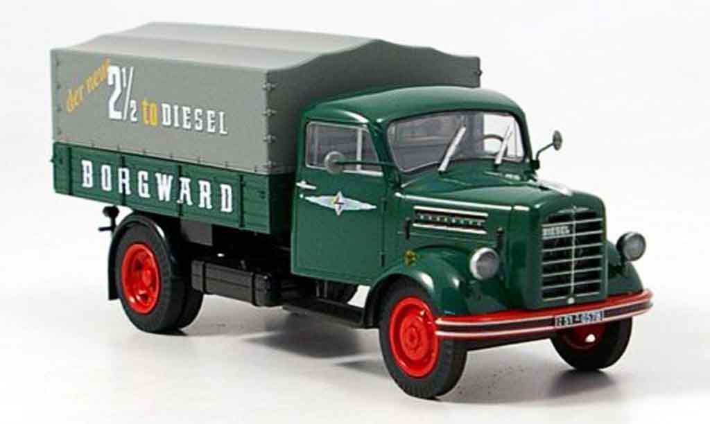 Borgward B 2500 1/43 Schuco Pritsche der neue 25 to Diesel miniature