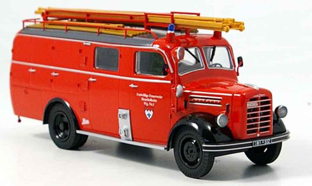 Borgward B 2500 1/43 Schuco F 8 pompier Heuchelheim miniature