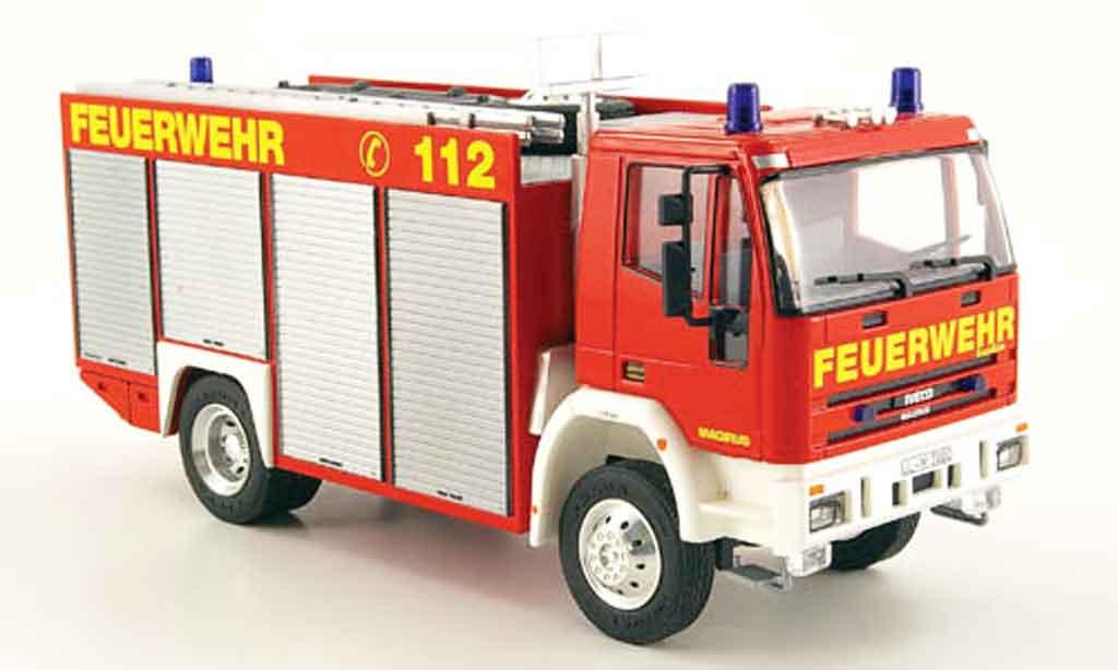 Magirus RW 1/43 Schuco Iveco 2 pompier miniature