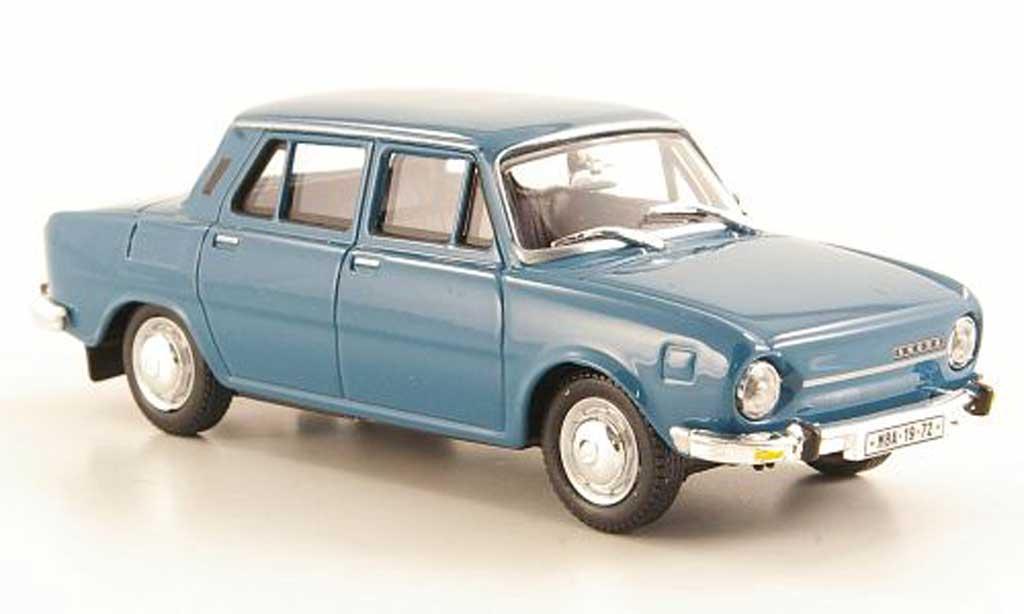 Skoda 110 1/43 Abrex bleugrise 1969 miniature
