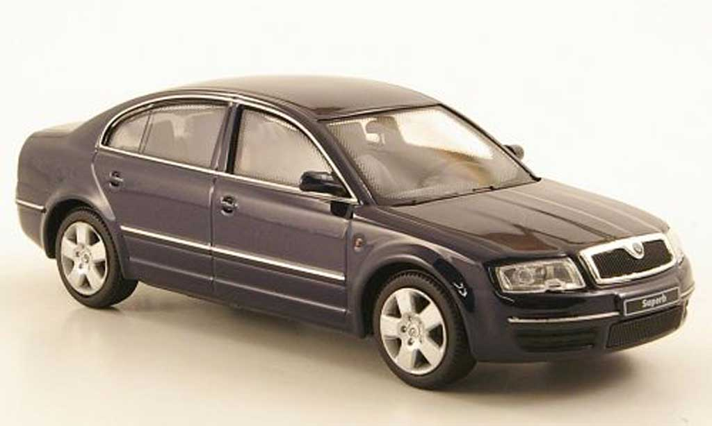 skoda superb miniature bleu abrex 1 43 voiture. Black Bedroom Furniture Sets. Home Design Ideas