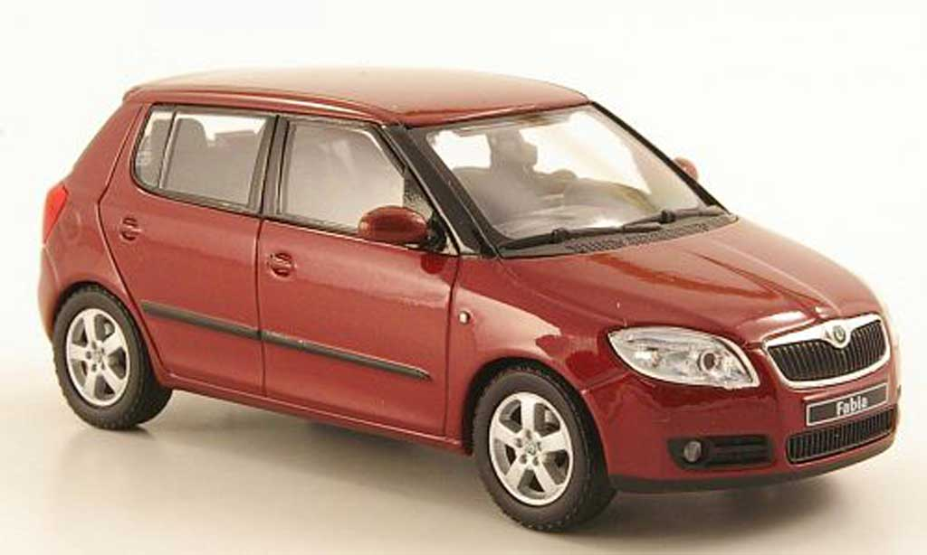 skoda fabia miniature rouge 2006 abrex 1 43 voiture. Black Bedroom Furniture Sets. Home Design Ideas