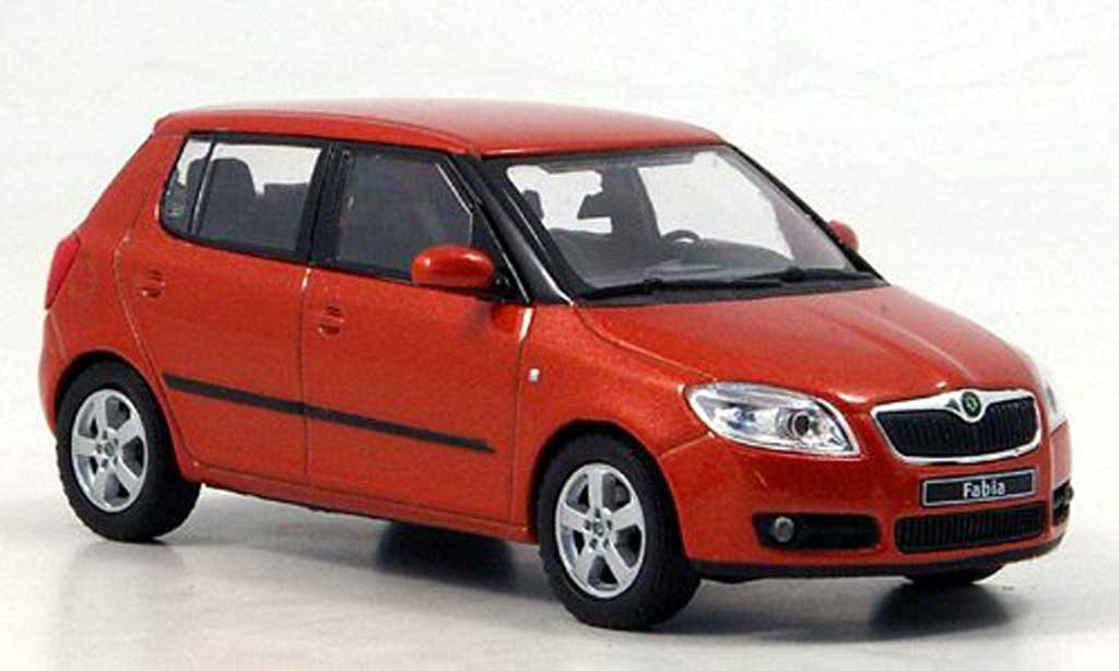 Skoda Fabia II 1/43 Abrex orange miniature