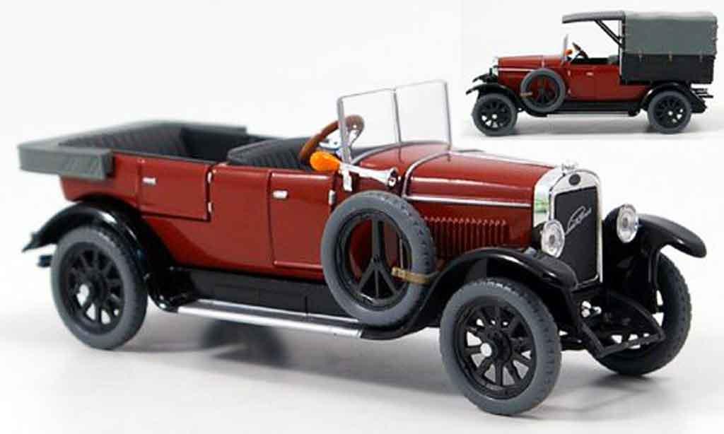 Laurin Klement Combi 1/43 Abrex body limousine lieferwagen rouge 1927 miniature