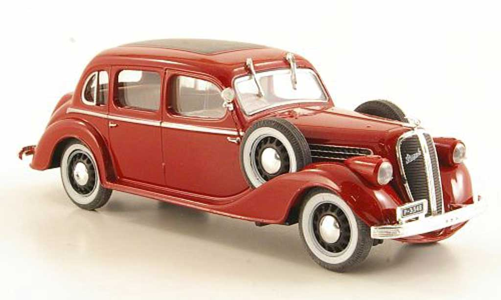Skoda Superb 1938 1/43 Abrex 913 rouge miniature