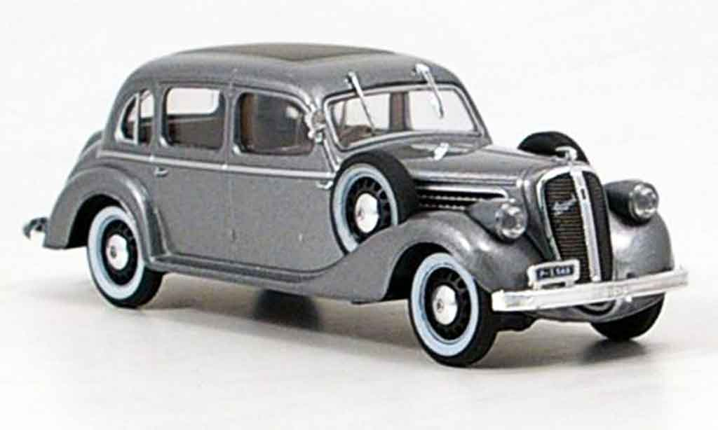 Skoda Superb 1938 1/43 Abrex 913 grise metallisee miniature