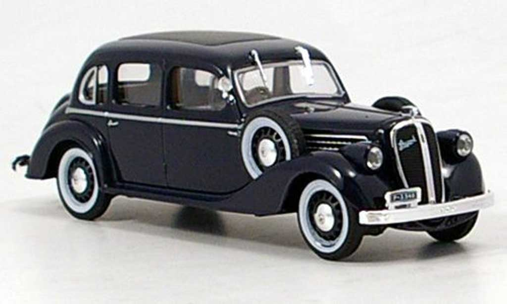 Skoda Superb 1938 1/43 Abrex 913 bleu miniature