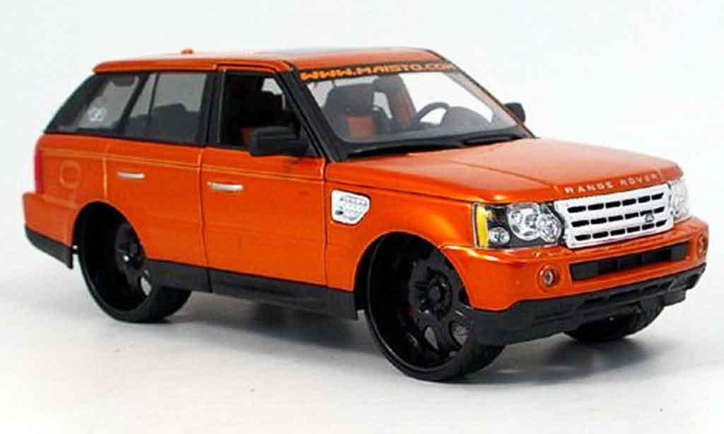 Range Rover Sport 1/18 Maisto orange g-ridez tuning miniature