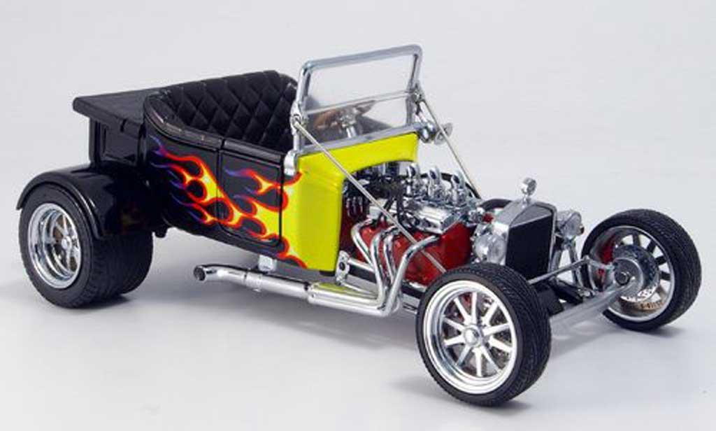 Ford Hot Rod 1/18 Yat Ming t-bucket noire avec jauneen flammen offen 1925 miniature