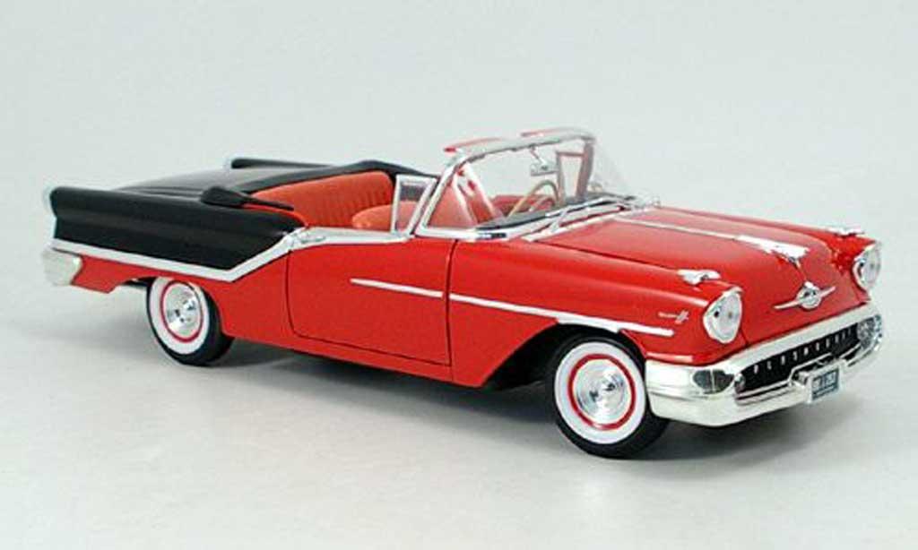 Oldsmobile Super 88 1/18 Yat Ming rouge noire 1957 miniature