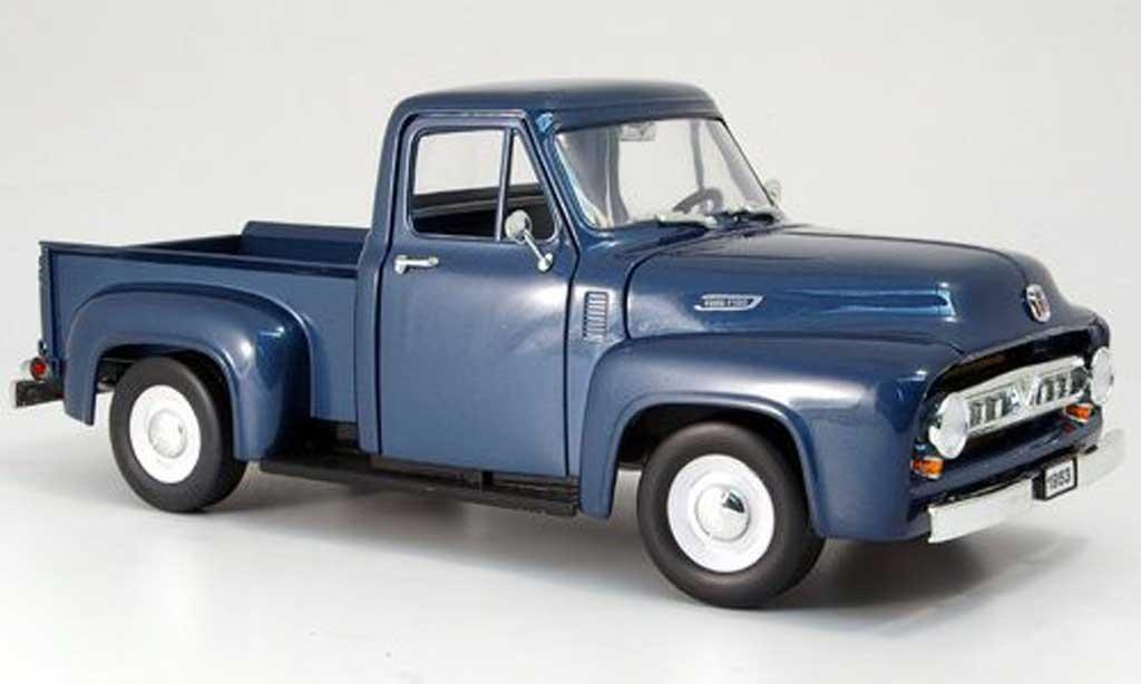 Ford F100 1/18 Yat Ming grise bleu 1953 miniature