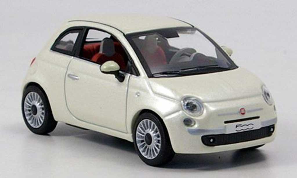 fiat 500 white 2007 norev diecast model car 1 43 buy. Black Bedroom Furniture Sets. Home Design Ideas