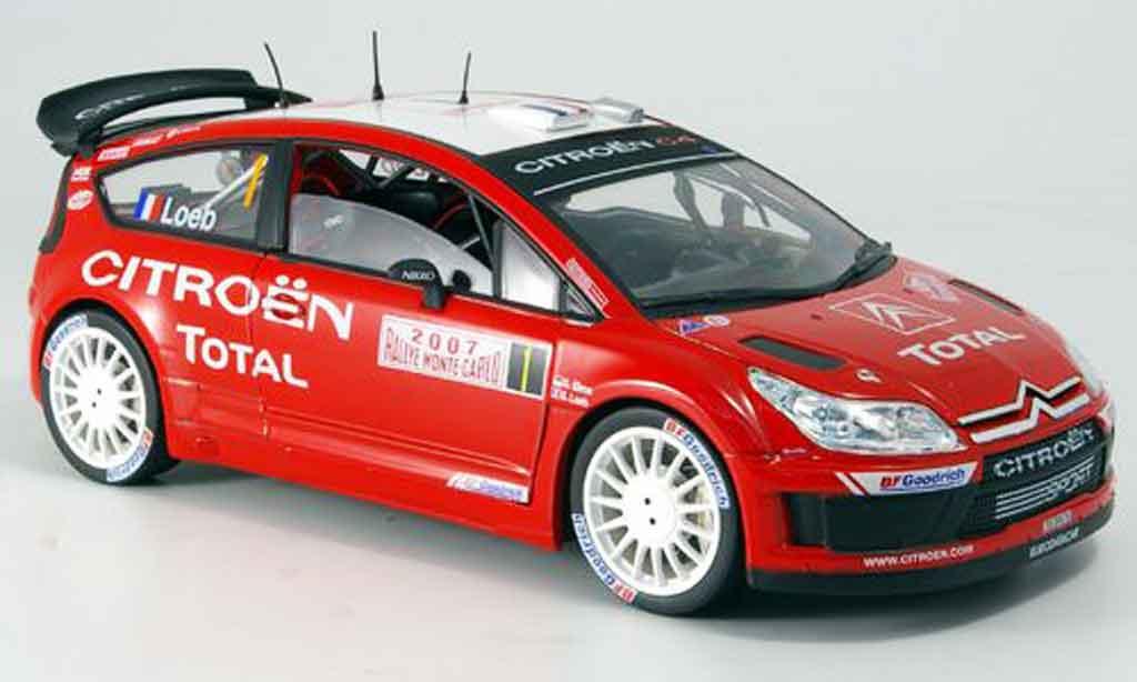 Citroen C4 WRC 1/18 Solido no.1 loeb/elena rallye monte carlo 2007 miniature