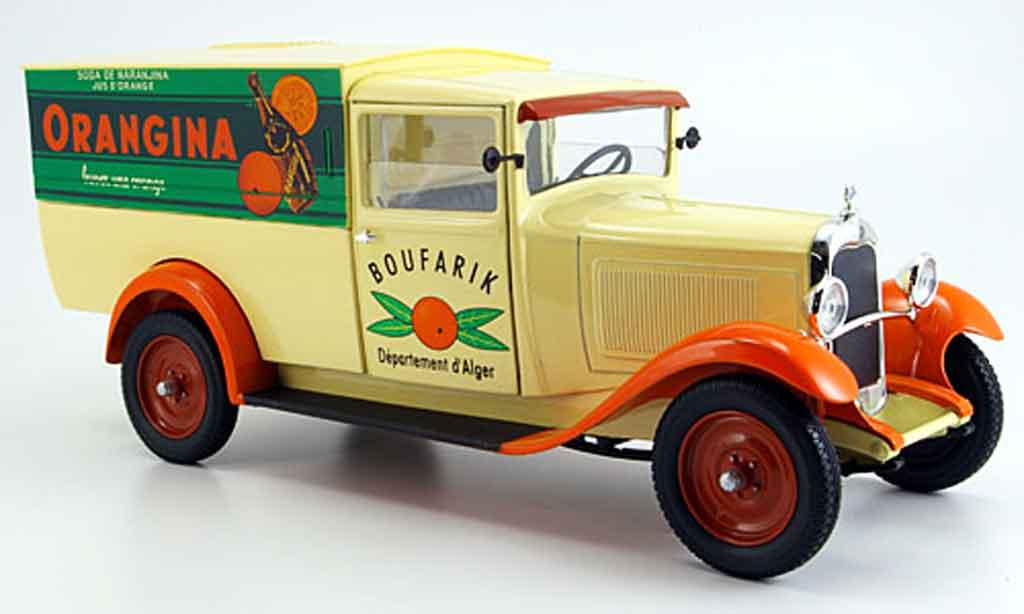 Citroen C4 1930 1/18 Solido lieferwagen orangina diecast model cars
