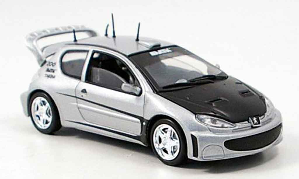 Peugeot 206 1/43 Solido tuning grey metallisee diecast model cars