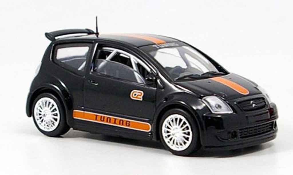 Citroen C2 1/43 Solido tuning noire miniature