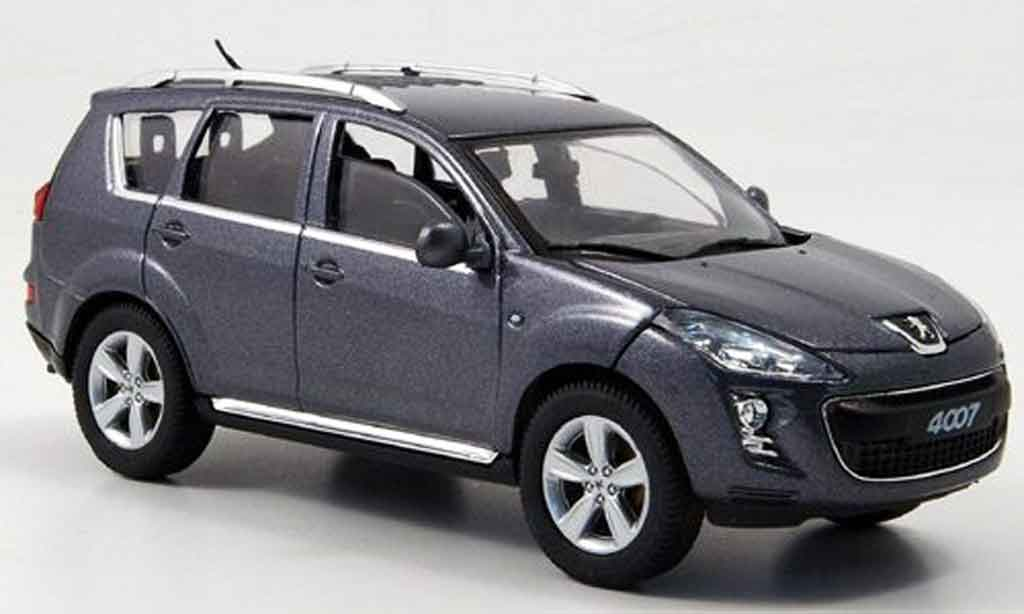 Peugeot 4007 1/43 Solido grise collection exklusiv 2007 miniature
