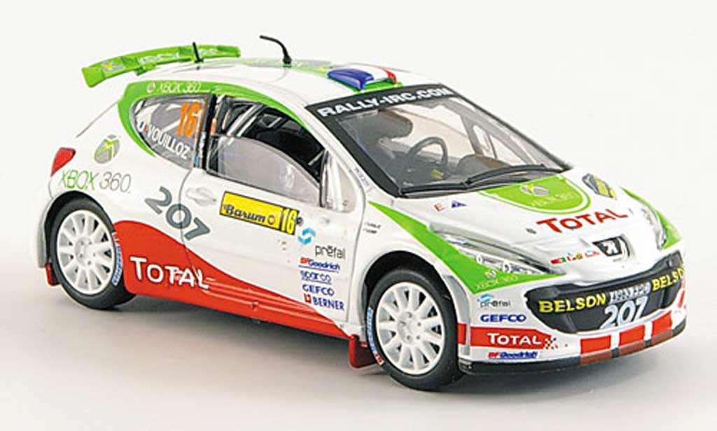 Peugeot 207 S2000 1/43 Solido No.16 XBox 360 Barum Rally 2008 miniature