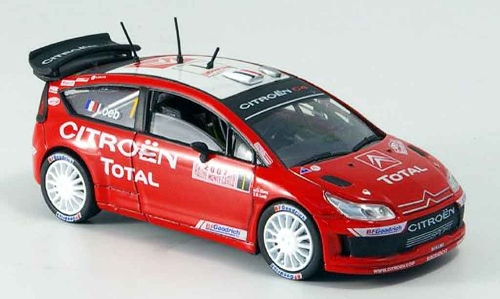 citroen c4 wrc 2007 miniature collection exklusiv solido 1 43 voiture. Black Bedroom Furniture Sets. Home Design Ideas