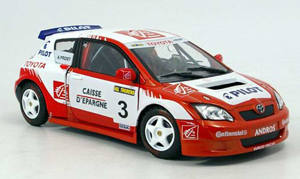 Toyota Corolla Trophee Andros 1/18 Solido no.3 prost collection 2006 miniature