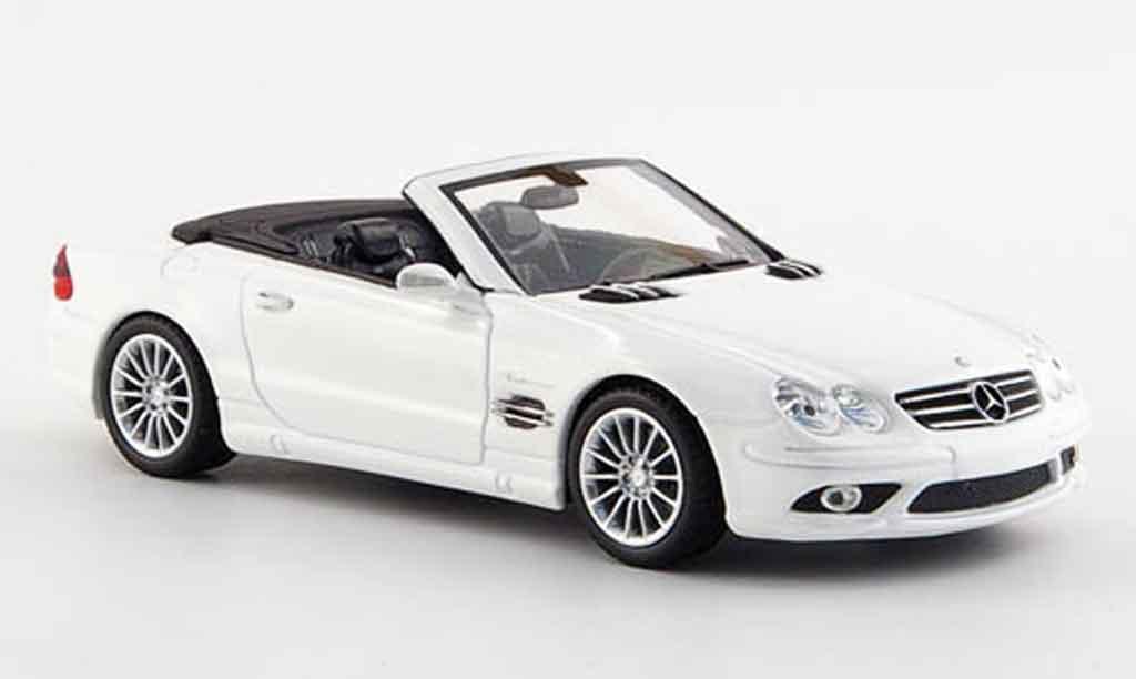 mercedes classe sl miniature sl 55 amg blanche offen 2007 minichamps 1 43 voiture. Black Bedroom Furniture Sets. Home Design Ideas