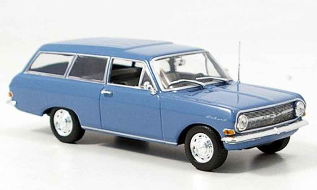 Opel Rekord 1/43 Minichamps a caravan bleu 1962