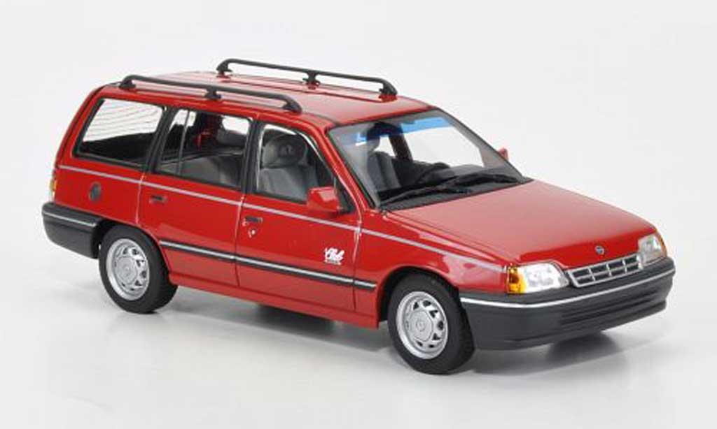Opel Kadett E 1/43 Minichamps Caravan rouge 1989 miniature