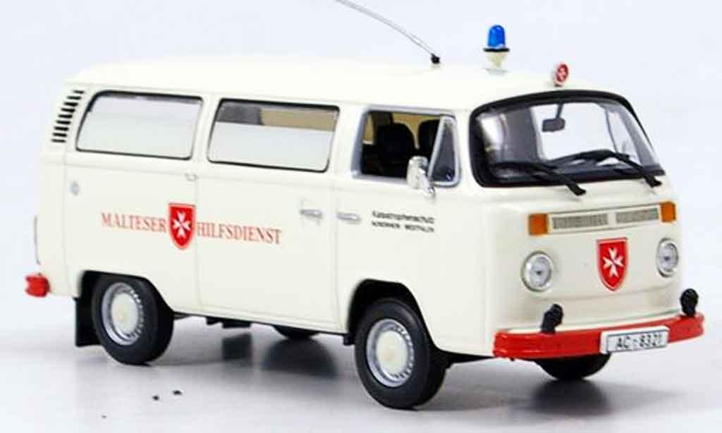 volkswagen combi t2 bus malteser hilfsdienst minichamps modellauto 1 43 kaufen verkauf. Black Bedroom Furniture Sets. Home Design Ideas