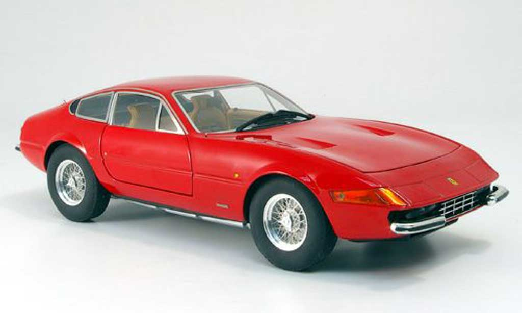 Ferrari 365 GTB/4 1/18 Hot Wheels Elite rouge serie elite miniature