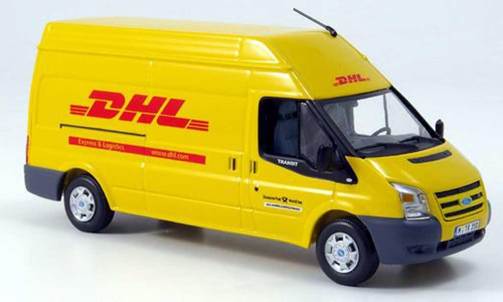 ford transit hochdachkasten dhl 2006 minichamps diecast. Black Bedroom Furniture Sets. Home Design Ideas