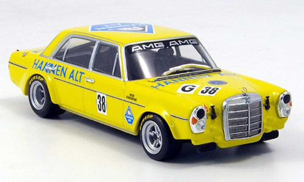 Mercedes 300 SEL 1/43 Minichamps 6.8 AMG Heyer Hockenheim 1971 diecast model cars