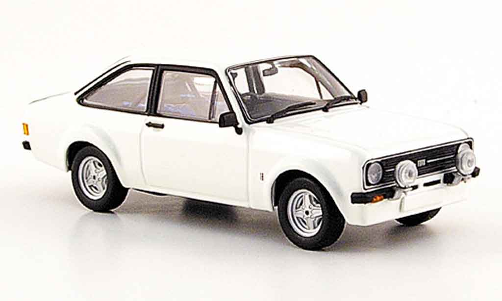 Ford Escort RS 1800 1/43 Minichamps Rally blanche 1975 MK2 miniature