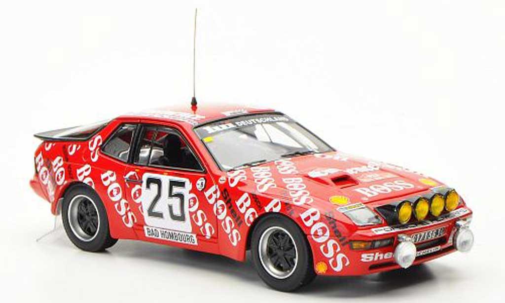 Porsche 924 1982 1/43 Minichamps Carrera GTS No.25 Boss Barth / Kussmaul Rally Monte Carlo miniature