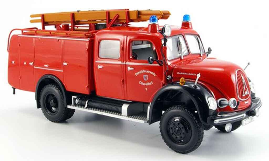 Magirus TLF 16 1/43 Minichamps Merkur A pompier Dusseldorf miniature