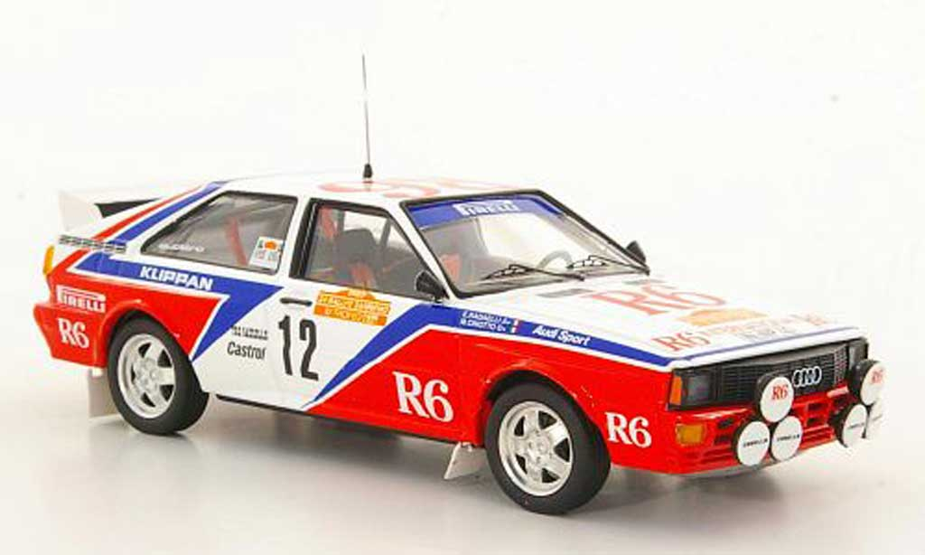 Audi Quattro 1/43 Trofeu No.6 M.Cinotto / E.Radaelli Rally San Remo 1982