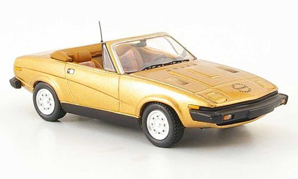 Triumph TR7 1/43 Trofeu Drophead gold miniature