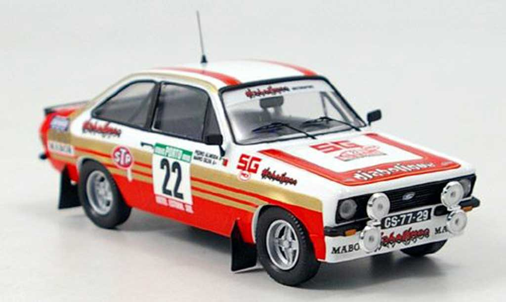 Miniature Ford Escort MK2 MKII Silva Rally Portugal 1981 Trofeu. Ford Escort MK2 MKII Silva Rally Portugal 1981 Rallye miniature 1/43