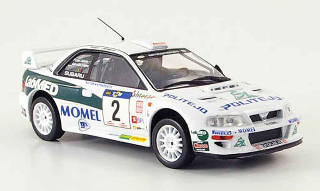 Subaru Impreza WRC 1/43 IXO no.2 lopes rallye portugal 2002 miniature
