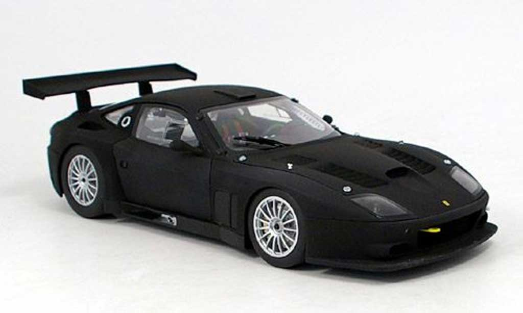 Ferrari 575 GTC 1/18 Kyosho matt black 2004 diecast model cars